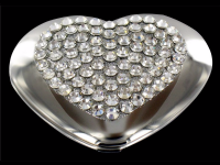 Crystal Heart Compact Hand made!
